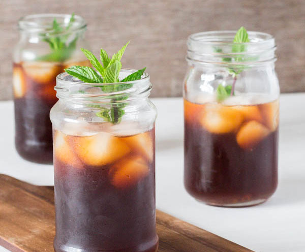 ginger and lemongrass iced tea