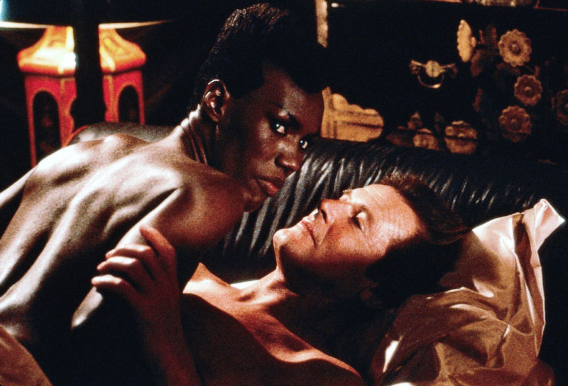 Grace Jones and Roger Moore