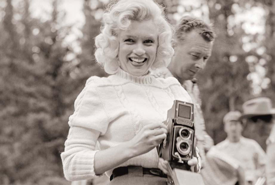 Monroe with camera