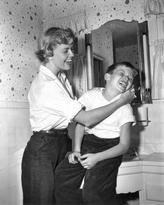 Doris Day and son