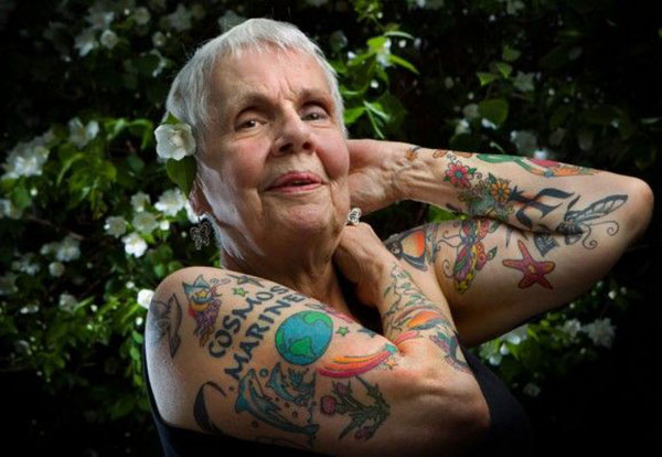 Tattoos as people get older