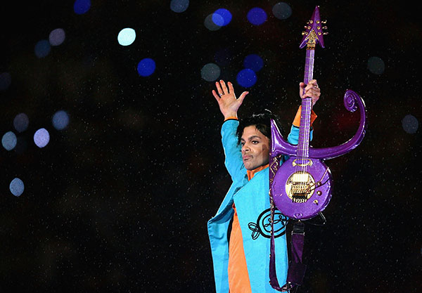 Prince and the love symbol guitar