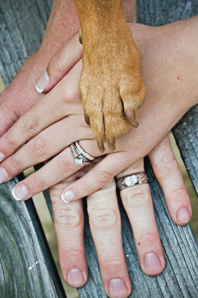 dog wedding rings