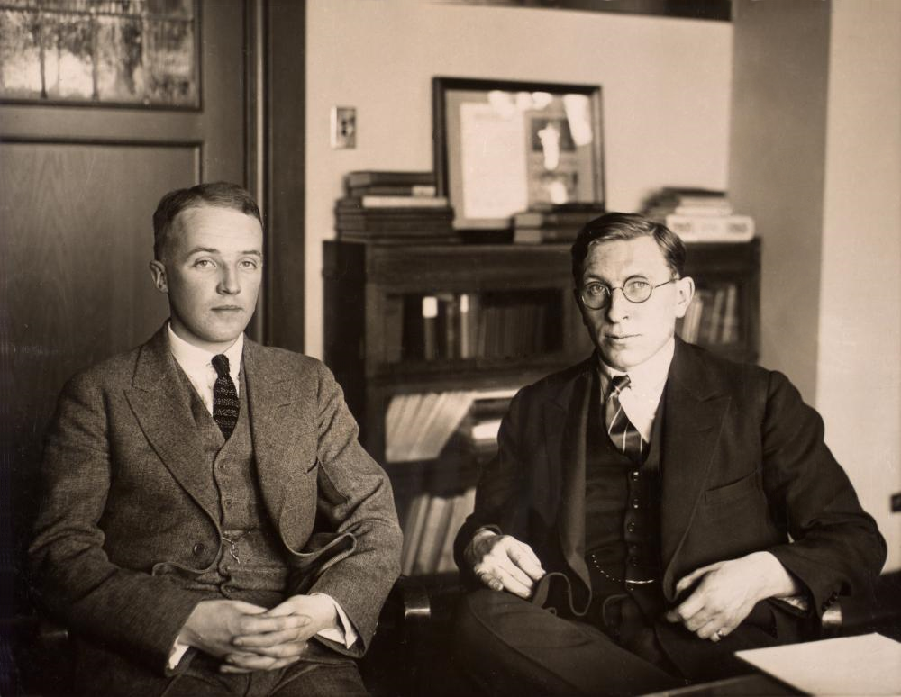 Frederick Banting and Charlie Best discovering insulin