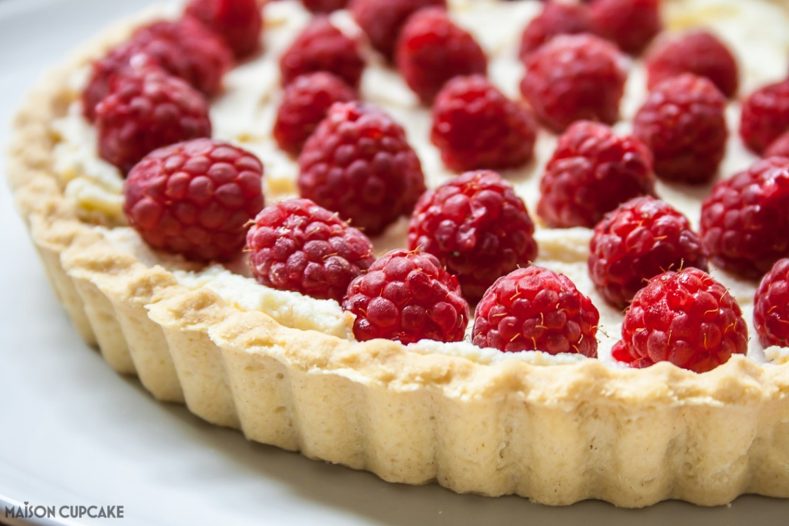 cheat's raspberry tart