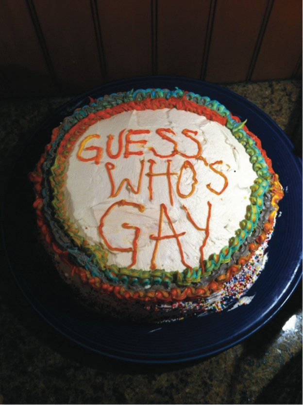 guess who's gay cake