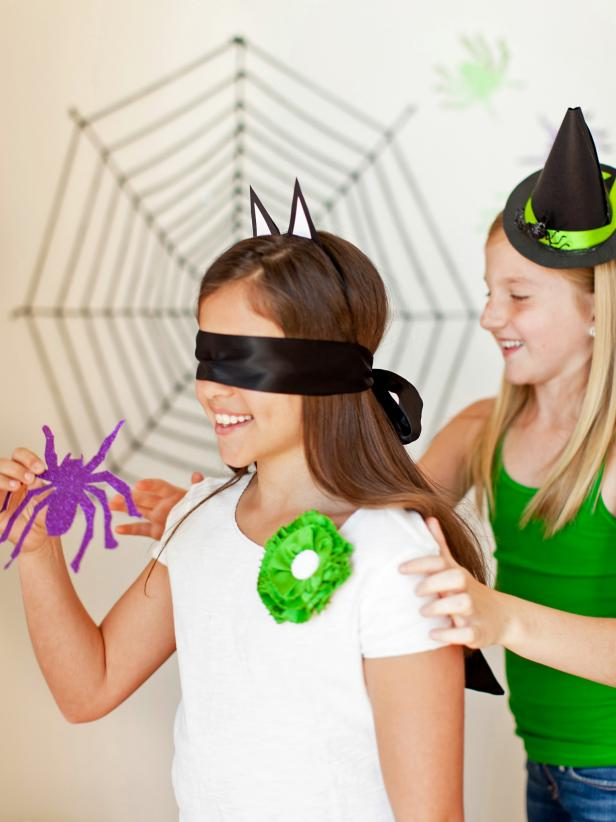 spider web halloween games for grandchildren