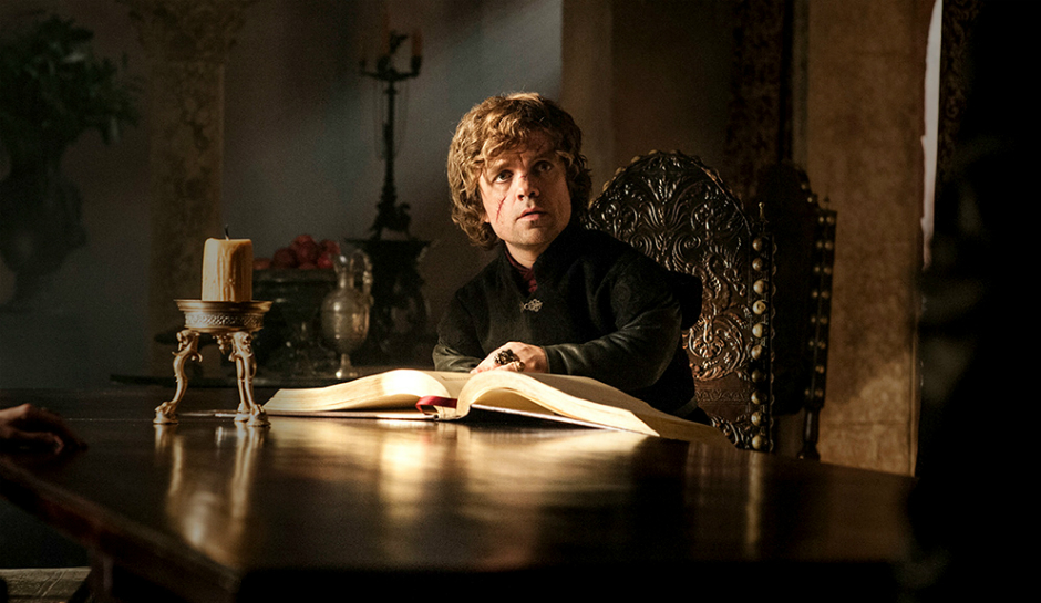 Tyrion reading