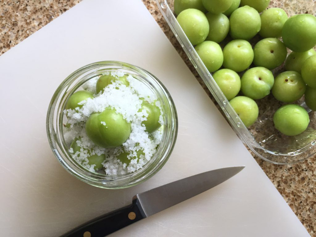 pickled green plums