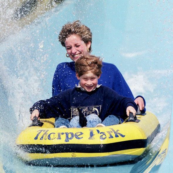 Diana Harry Thorpe Park motherhood style