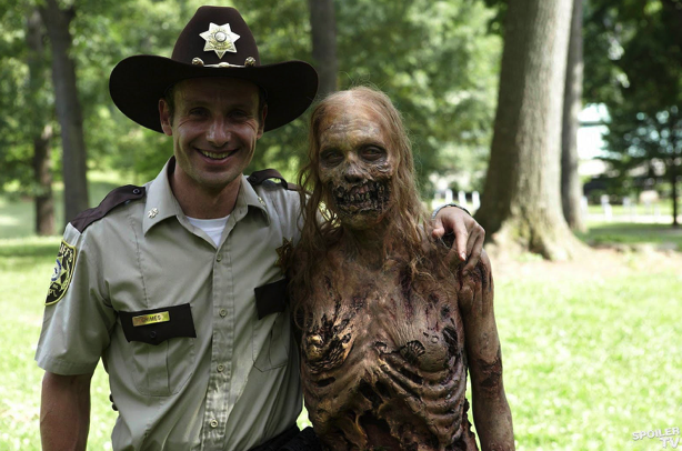 Rick Grimes and zombie