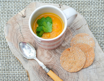 low calorie sweet potato soup meal
