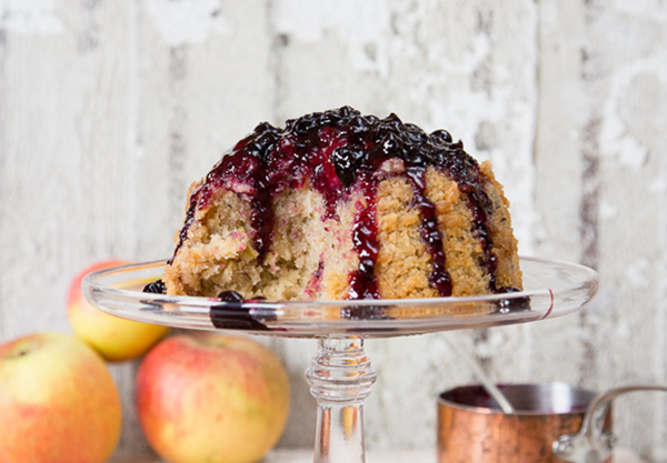 blackcurrant steamed pudding