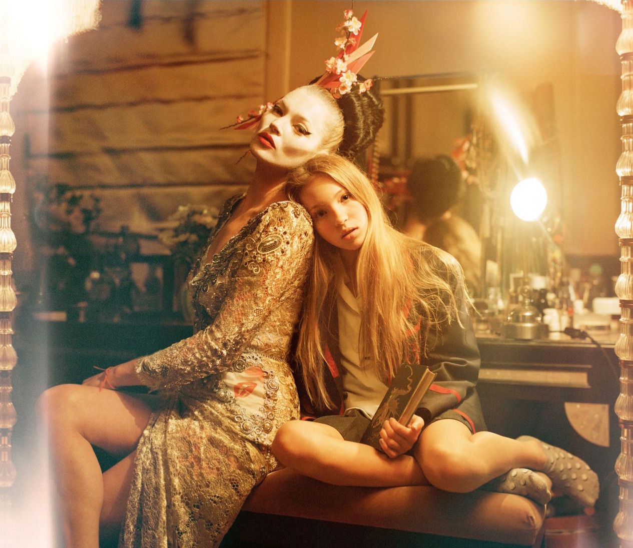 kate moss with daughter