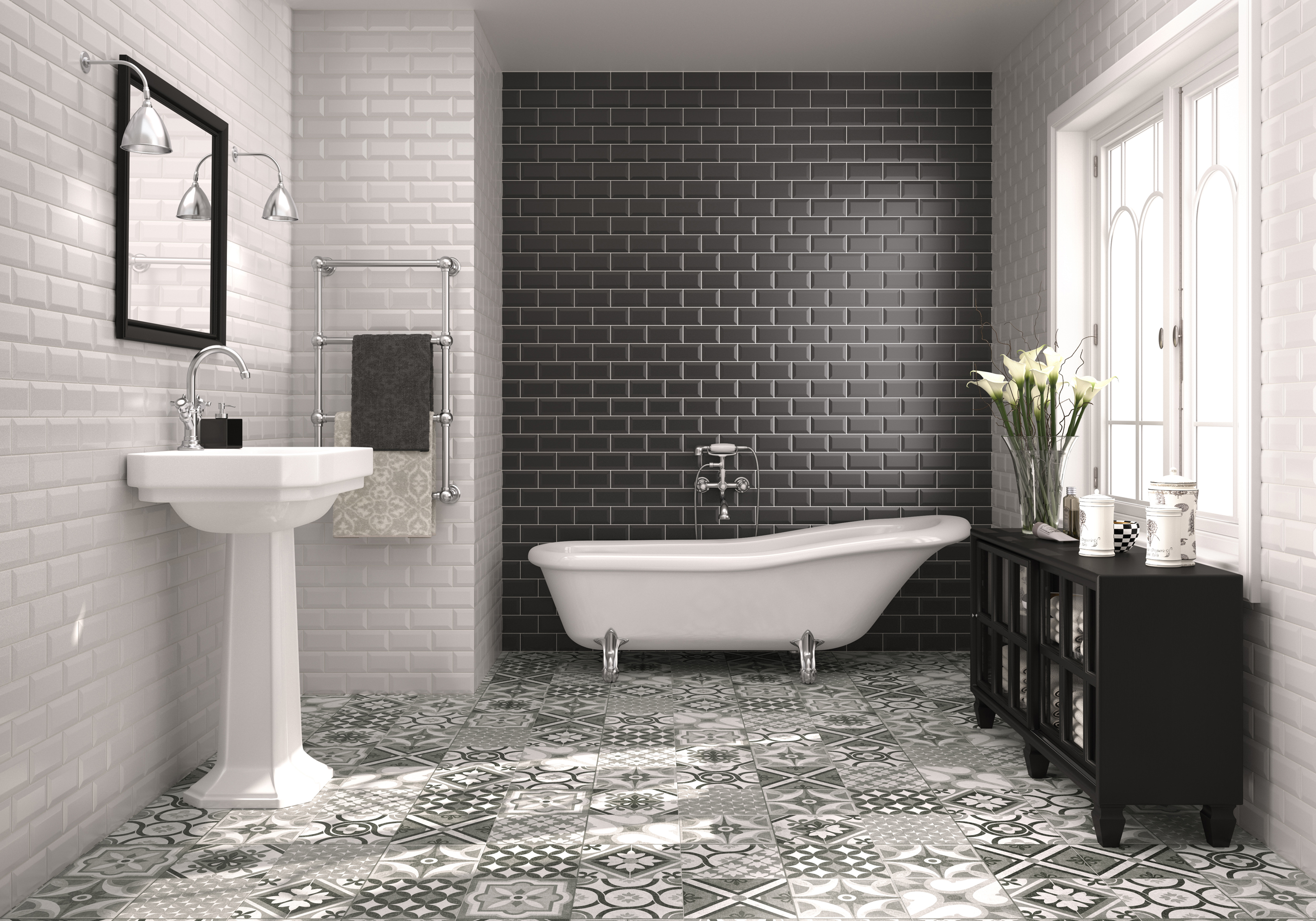 Bathroom Tiles Colour Combination how to make a statement with bold bathroom tiles | around the