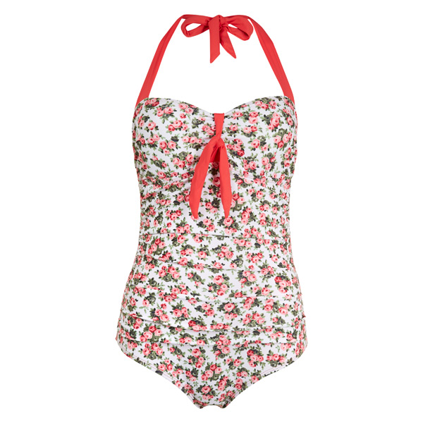 Laura Ashley Ditsy Rose Print Swinsuit