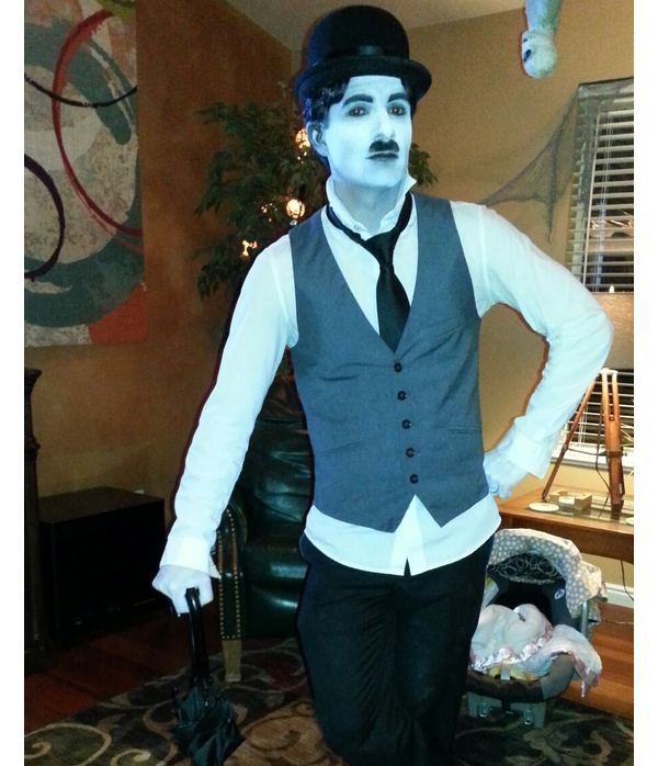 Haloween Black and White Charlie Chaplin