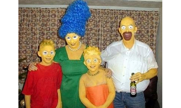 Halloween Simpsons weird costume