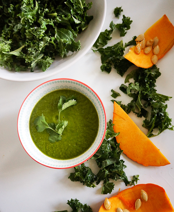Kale and pumpkin soup