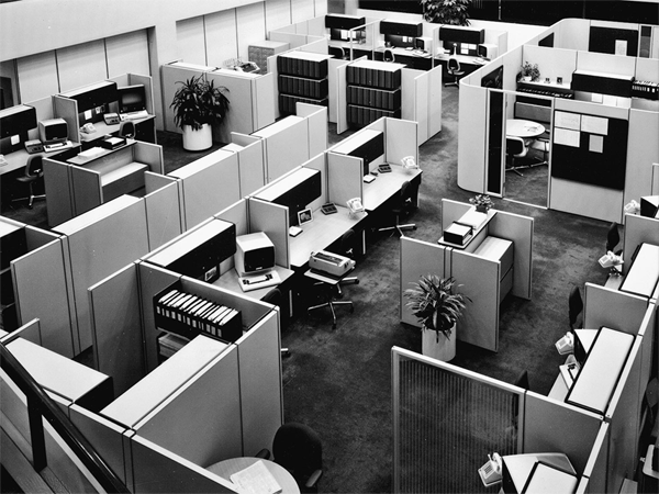 Retro Office Cubicles