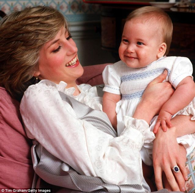 Diana and baby prince William