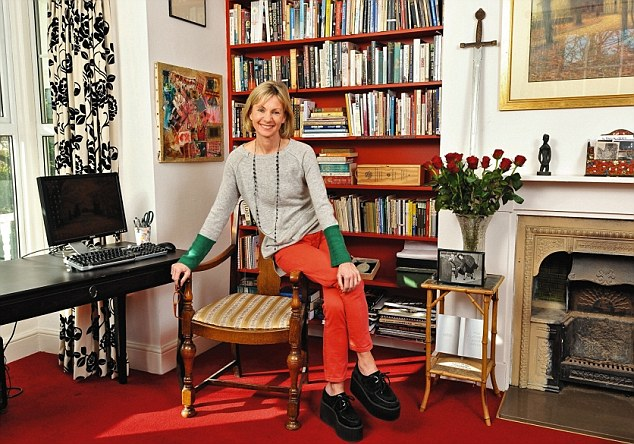 Kate  Mosse at home
