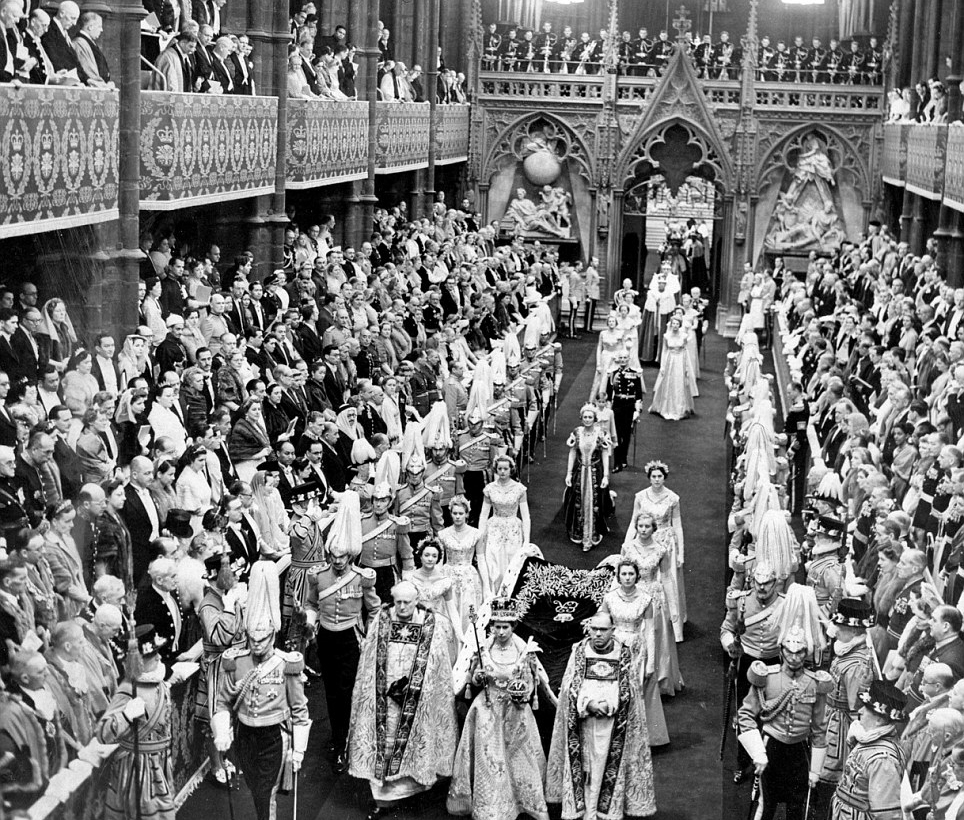 Westminster Abbey during Queen Elizabeth II's Coronation