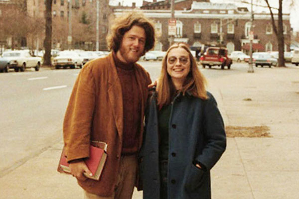 Bill and Hillary Clinton as youths
