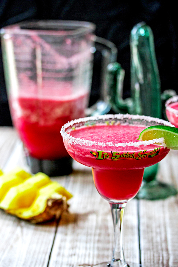 Blood Orange and Pineapple Blended Margarita
