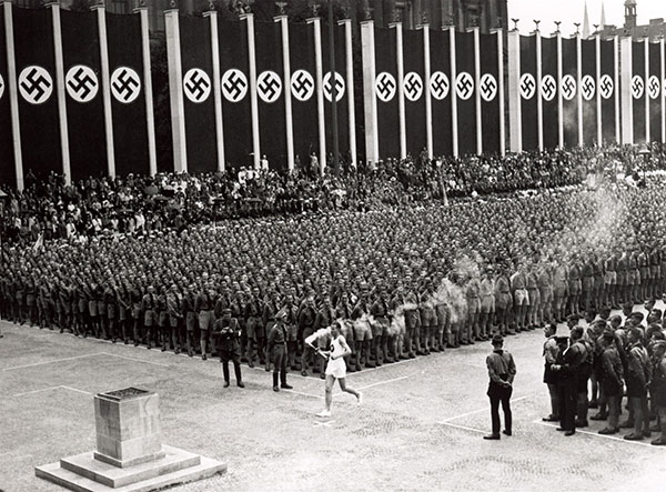 The first Olympic torch relay, Berlin 1936