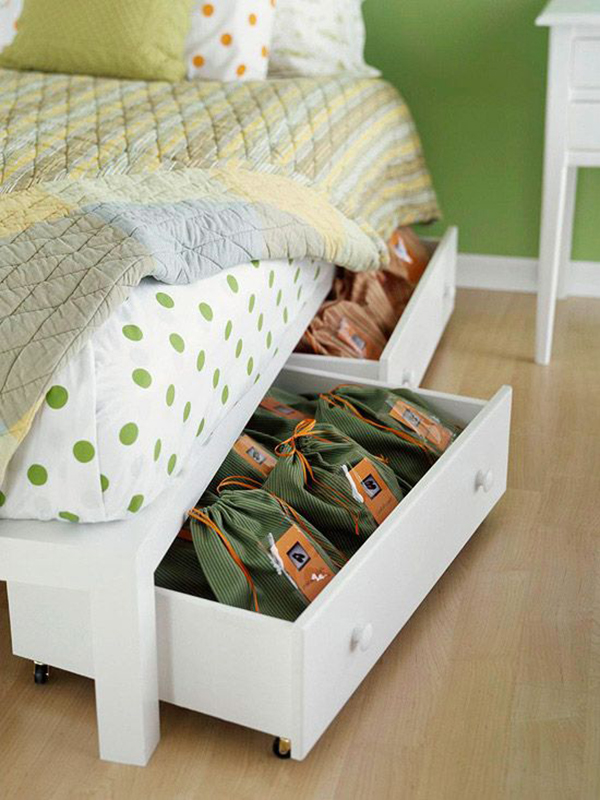 Under bed storage space