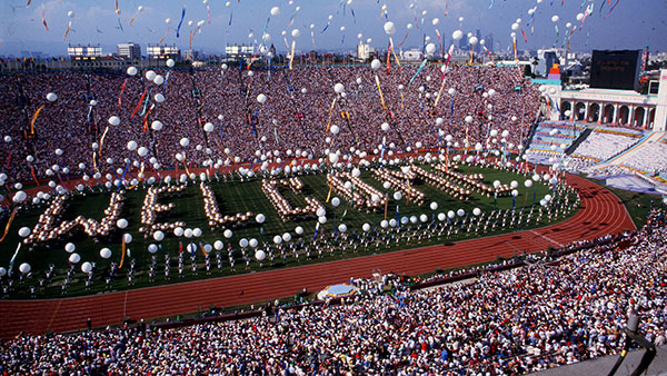 1984 Los Angeles Olympic opening ceremony
