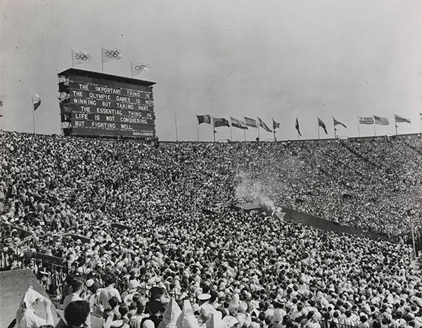 1948 London Olympics, the important thins is not winning