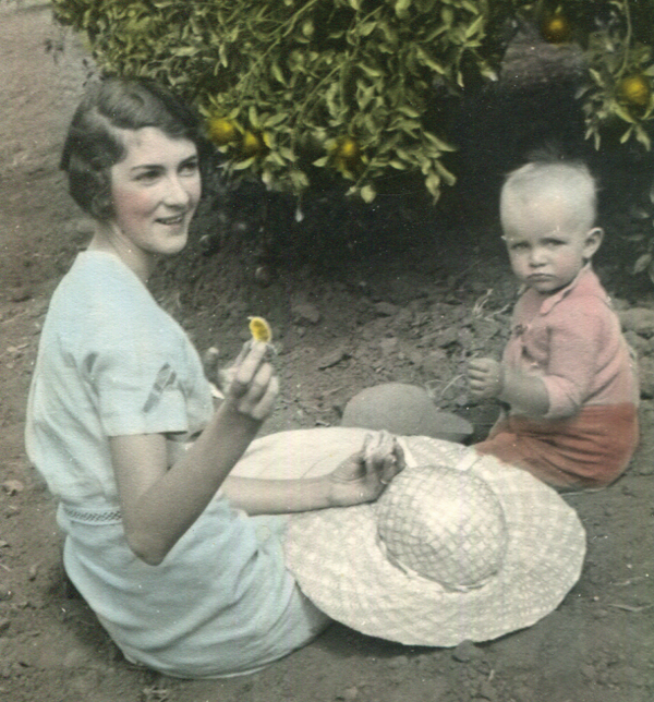 Wilbur Smith and his mother