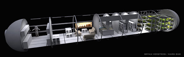 Mars one living quarters