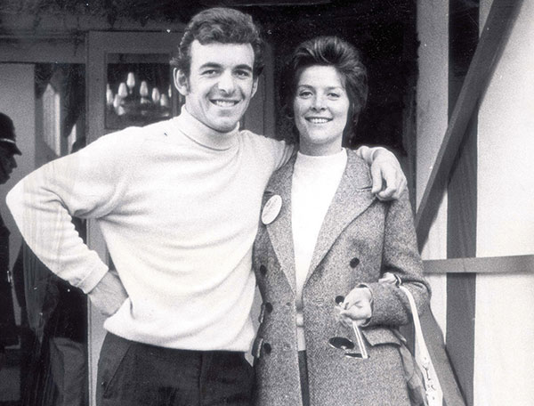 Tony Jacklin and his first wife Vivien