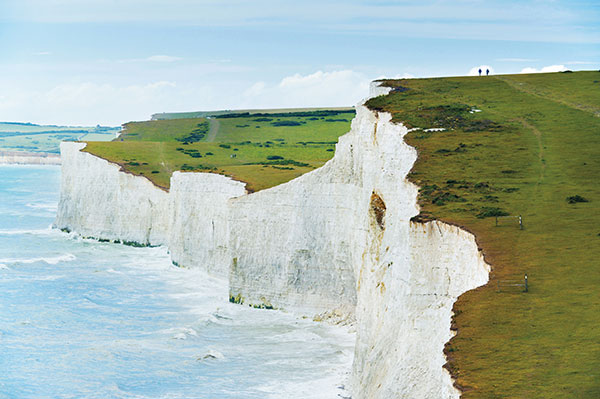 Walking along the Seven Sisters county park coast line