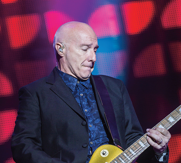 Midge Ure playing guitar