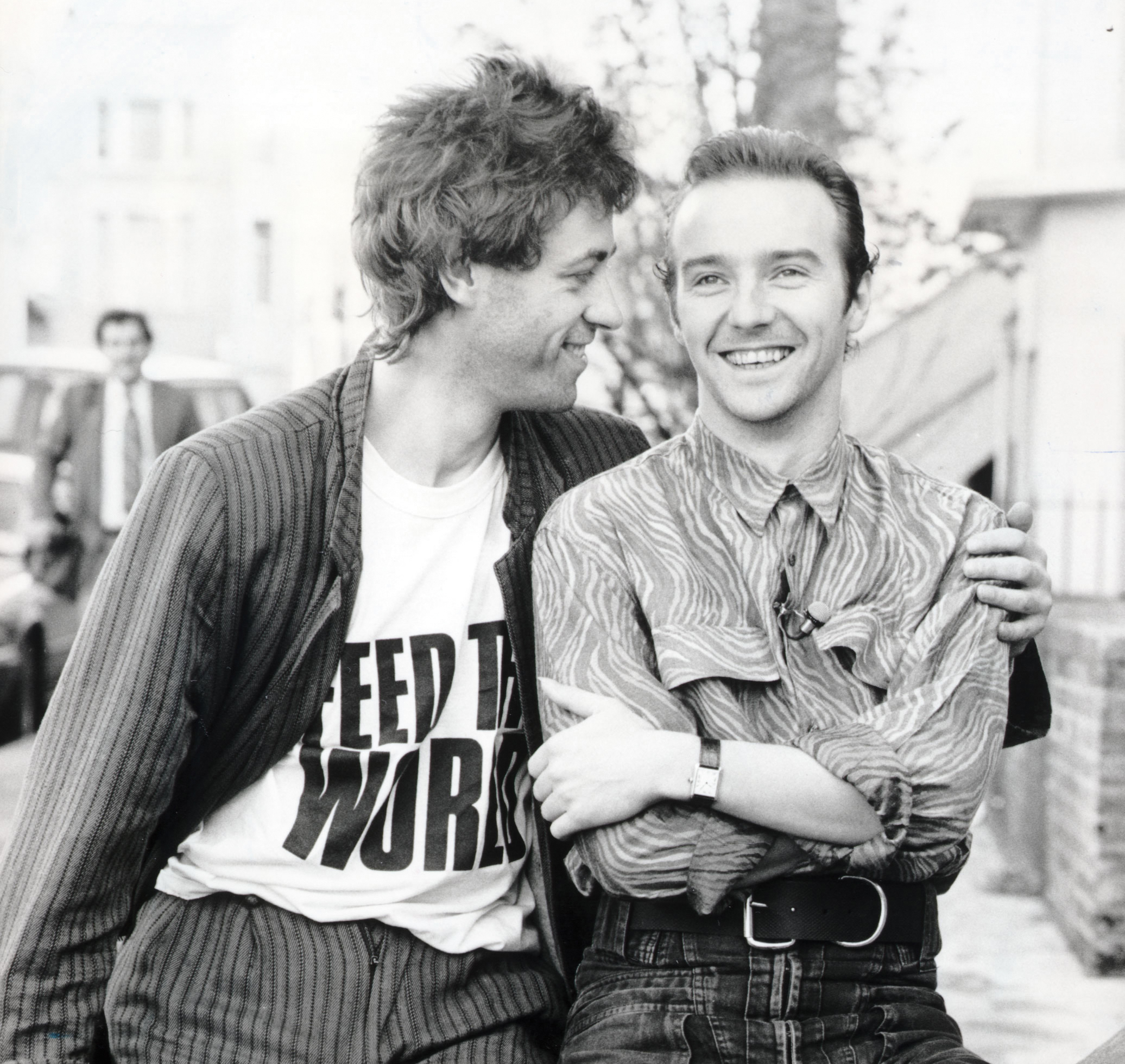 Midge Ure and Bono