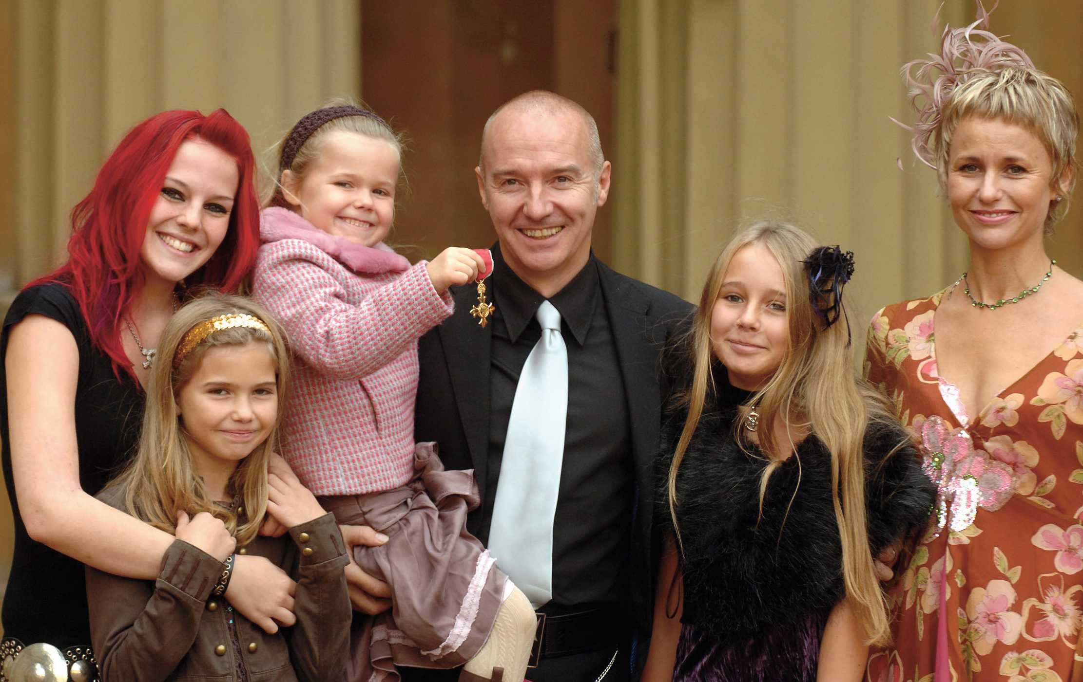 Midge Ure with family