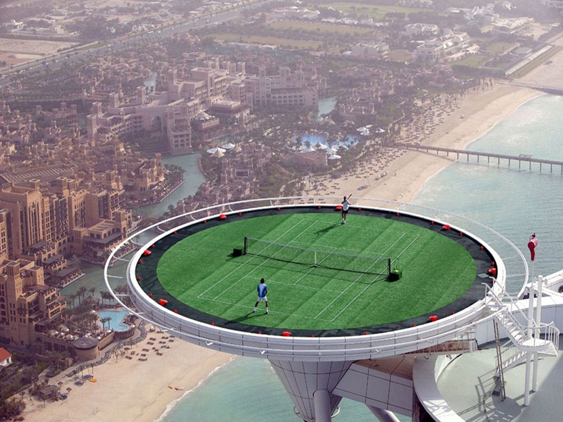 The Burj Al Arab Hotel Helipad