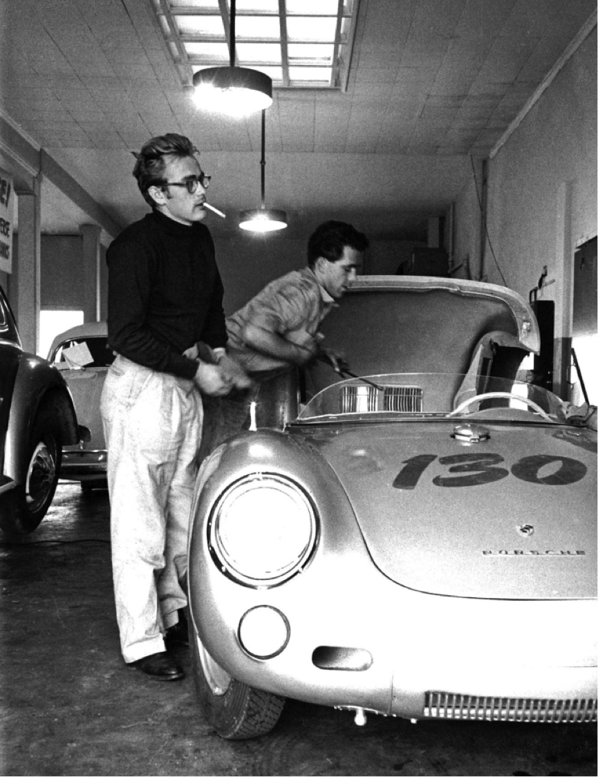 James Dean and his car