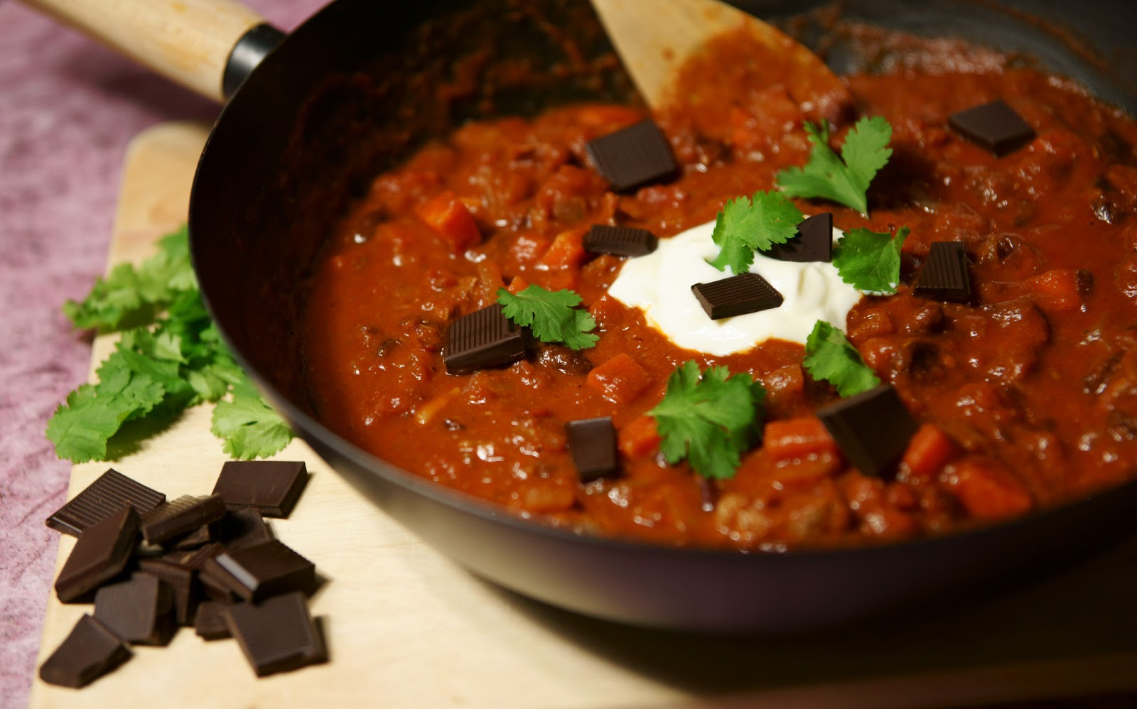 Chocolate and black bean chili