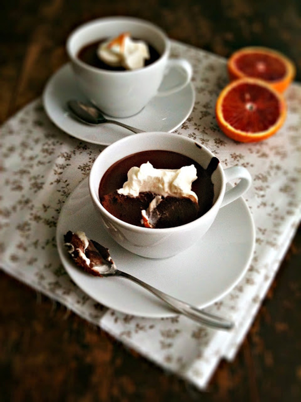 Chocolate and Blood Orange Pots de Creme