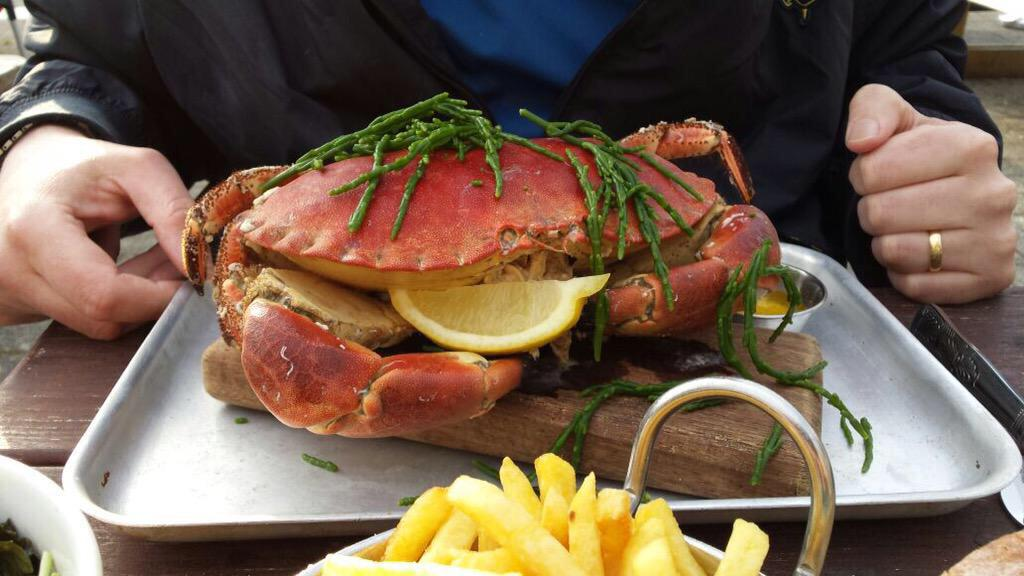 Crab on a board