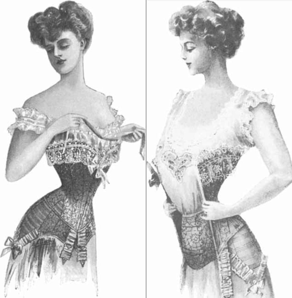 corset diet wearing