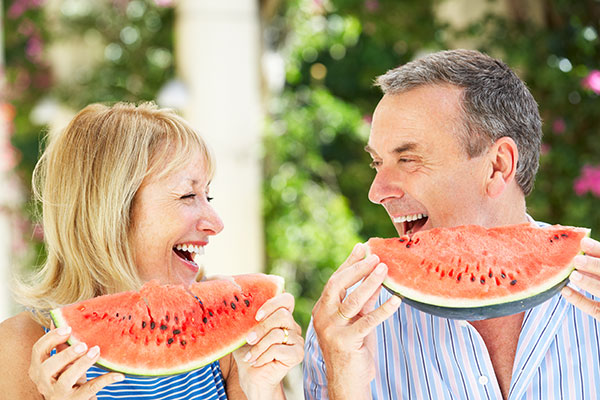 couple watermelon