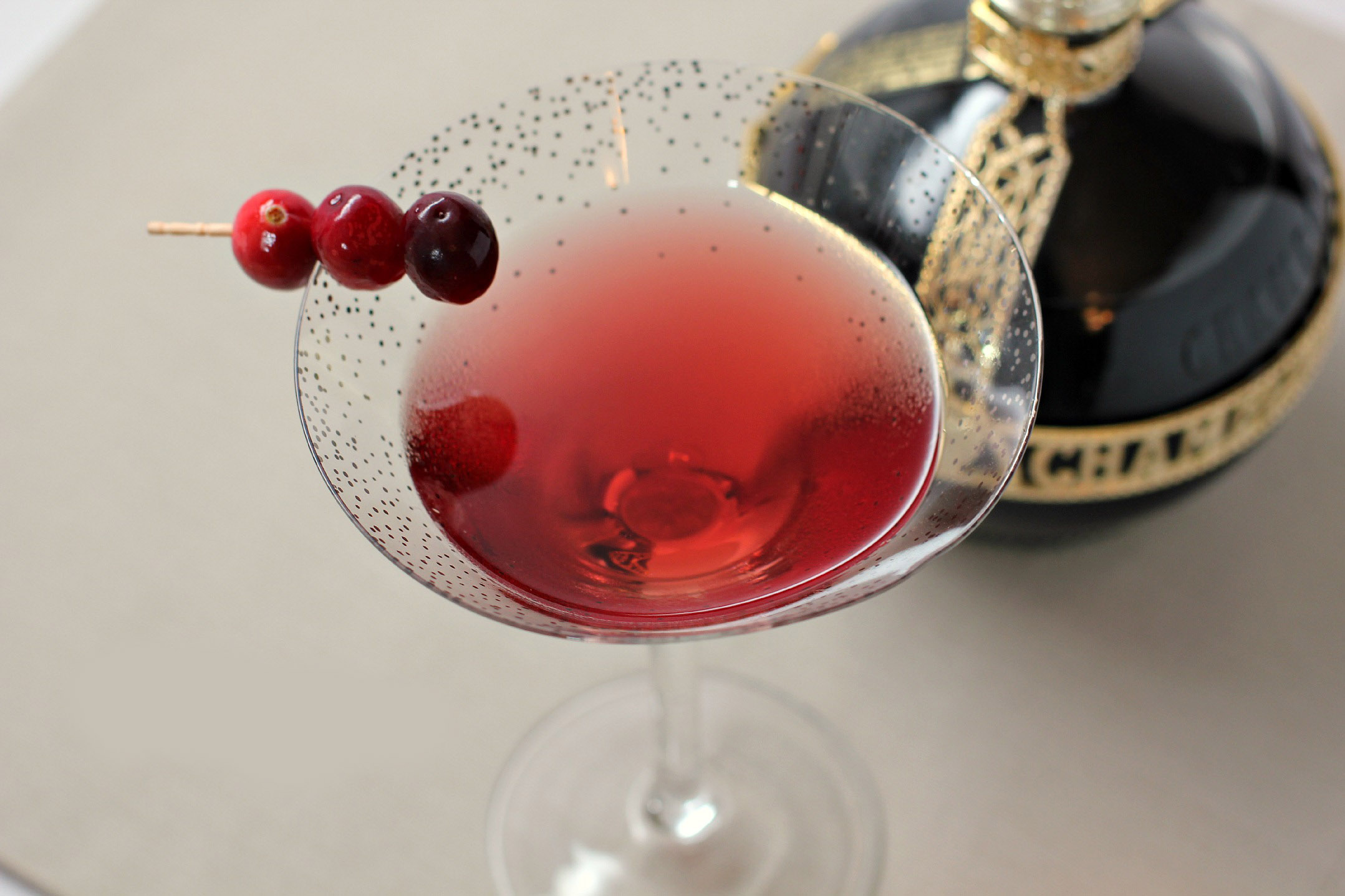Cran-raspberry martini