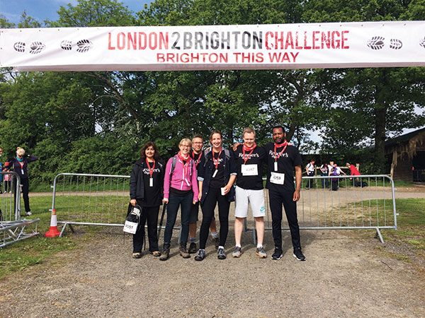 The Reader's Digest team take part in the London to Brighton Walk