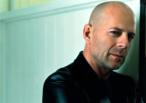 Bruce Willis rocking baldness